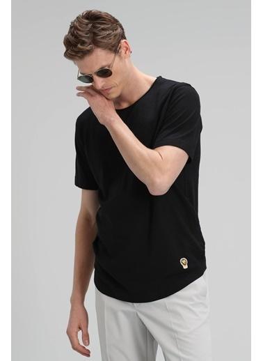 Lufian Junya Modern Grafik T- Shirt Haki Siyah